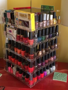 nail polish acrylic storage