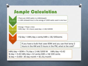 light bulb calculation bulb cost