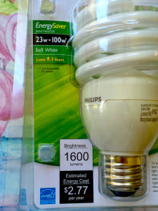 light bulb package CFL