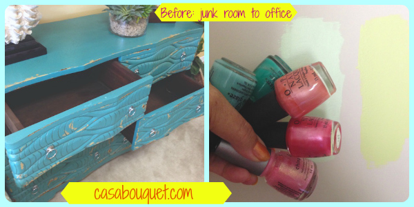Makeover: From junk room to office