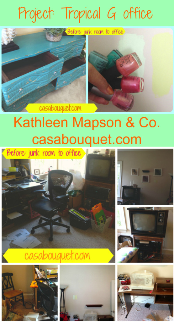 Before: from junk room to office. The dresser was the jumping off point.