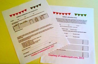 free printable camp forms