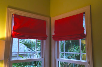 roman shades pleated