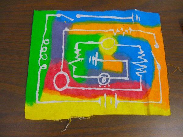 Glue batik and semiconductors