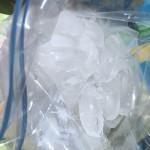 ice cubes with rock salt