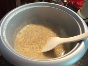 oatmeal-cooked