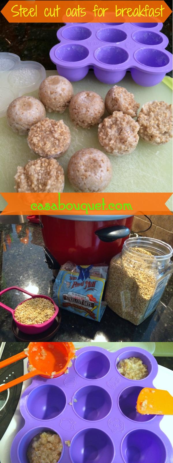 steel cut oats recipe makes frozen pucks for quick breakfast