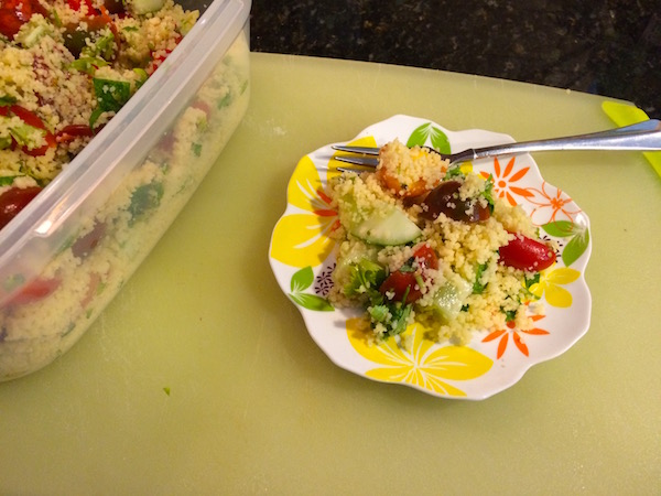 Couscous salad with Mexican flavors