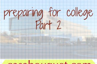 College preparation at the end of high school includes choosing a major, calculating expenses, and applying for scholarships. College planning worksheet.