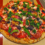 Recipe for pizza with fresh tomatoes can be made at home in about 15 minutes. This tomato and basil pizza is similar to margherita.