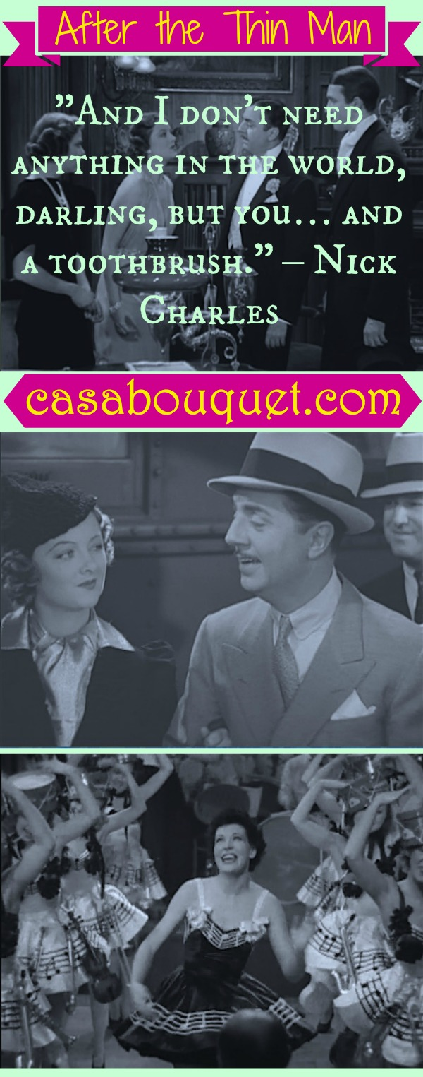 Nick and Nora Charles (William Powell & Myrna Loy) detect their way through San Francisco. Lisa's Home Bijou: After the Thin Man (1936)