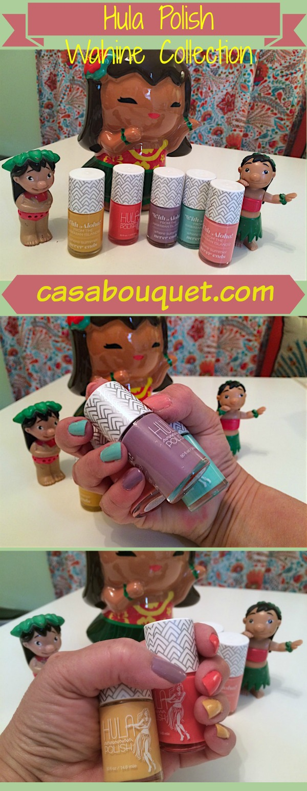 A review of the Wahine Collection from Hula Polish. Tips for doing your own manicure!
