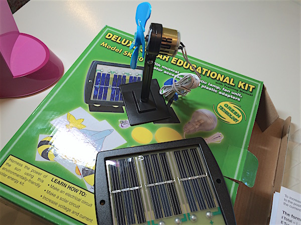 Solar energy activity – solar panel & motor
