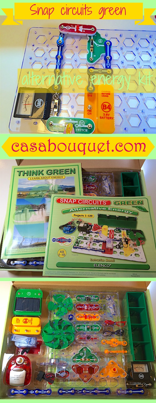 Snap Circuits Green Alternative Energy Kit Casa Bouquet Has Over 100 Activities For Learning About Renewable Includes Solar