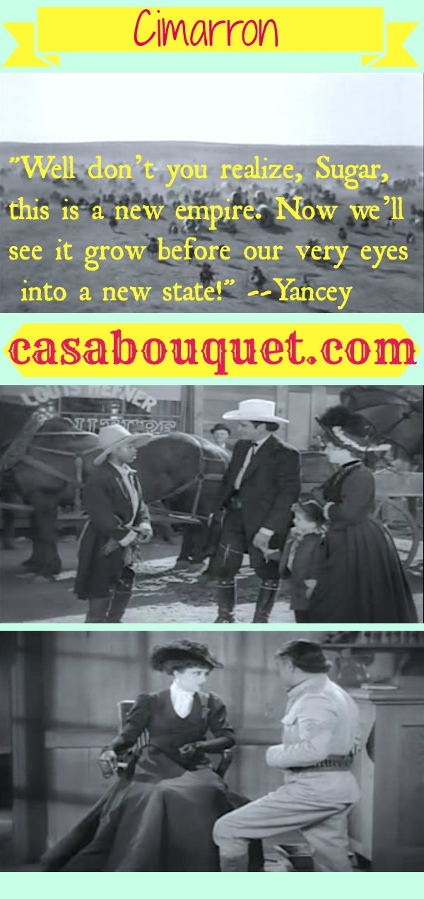 Cimarron is Edna Ferber's story of the Oklahoma land rush and the Osage territory. Irene Dunne stars in this early Western Oscar winner. Lisa's Home Bijou: Cimarron