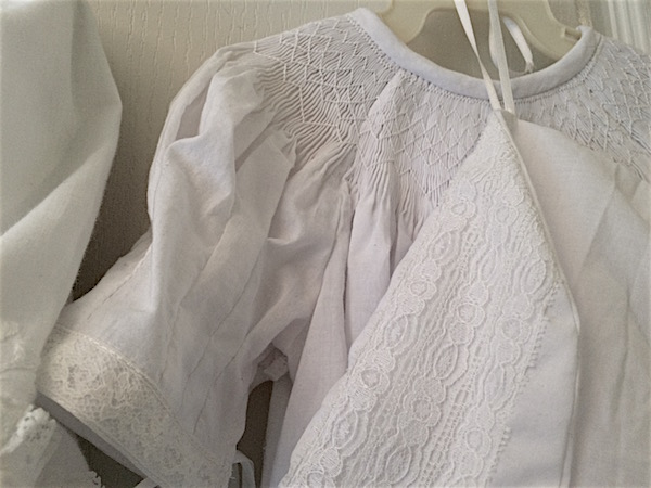 Baptism gown for baby – smocking heirloom bishop