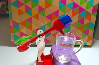 Drinking bird STEM activity uses a glass bulb with a felt head and low boiling point liquid to work as a heat engine and party trick. Kids learn thermodynamics!