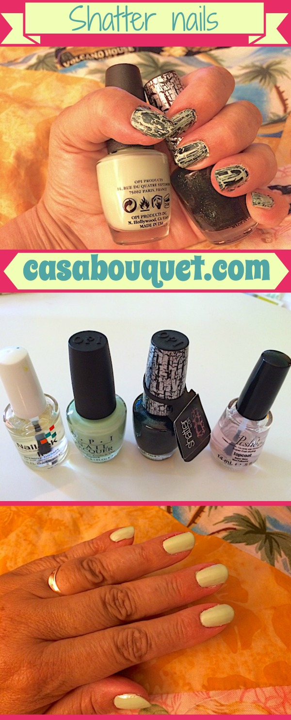 How to use shatter and crackle nail polish. Different, artistic, and easy nails! Tips for doing your own manicure!