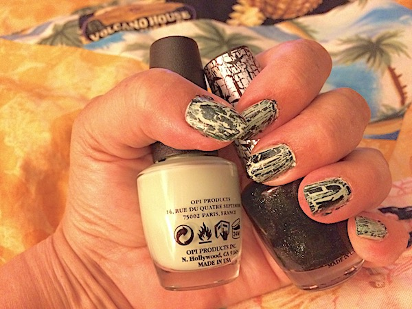 Shatter and crackle nail polish – easy home mani