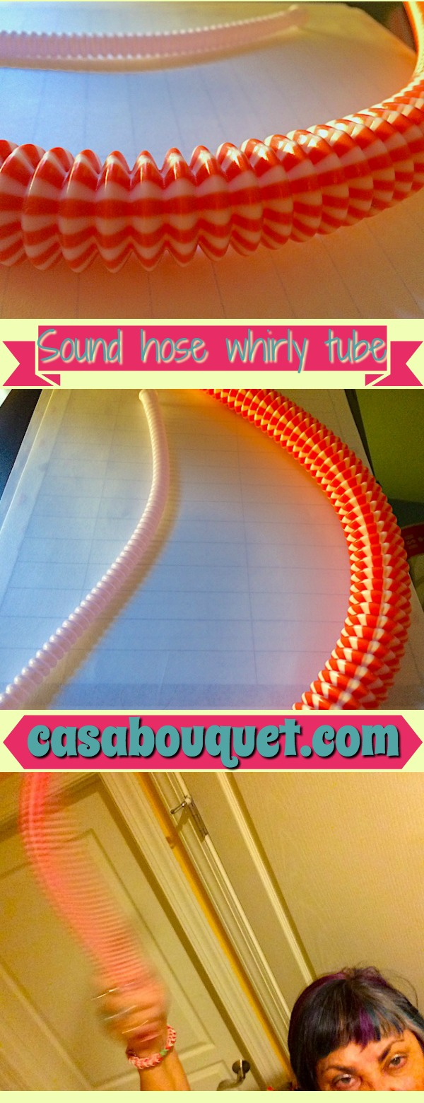 Sound hose STEM activity uses a corrugated tube to twirl and make musical notes. Learn sound, frequency, and harmonics!