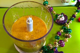 Remoulade sauce is a mustard-based sauce used with seafood, perfect for Mardi Gras season. Lemon juice, ketchup, and Cajun seasonings add flavor.