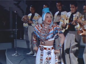 Carmen Miranda brings the samba and her band to Lake Louise to assist Betty Grable's romance. Lisa's Home Bijou: Springtime in the Rockies (1942)