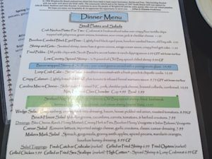 South Beach Grill menu