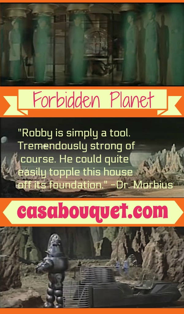 Robby the Robot lives on Altair IV with Anne Lloyd Francis and Walter Pidgeon. Leslie Nielsen lands to cause a Tempest. Lisa's Home Bijou: Forbidden Planet (1956)