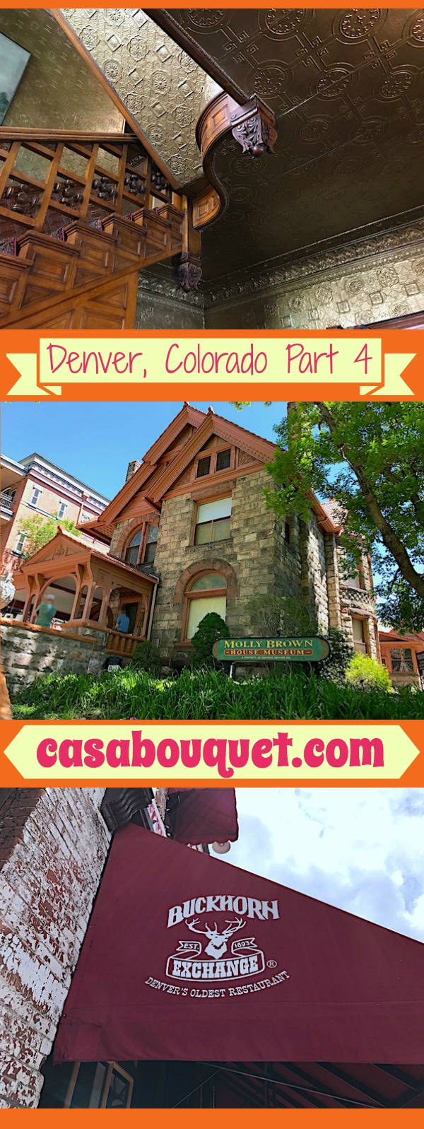 Denver Colorado has historic things to do in Capitol Hill and Lincoln Park near downtown. Visit the Brown House Museum and the Buckhorn Exchange.