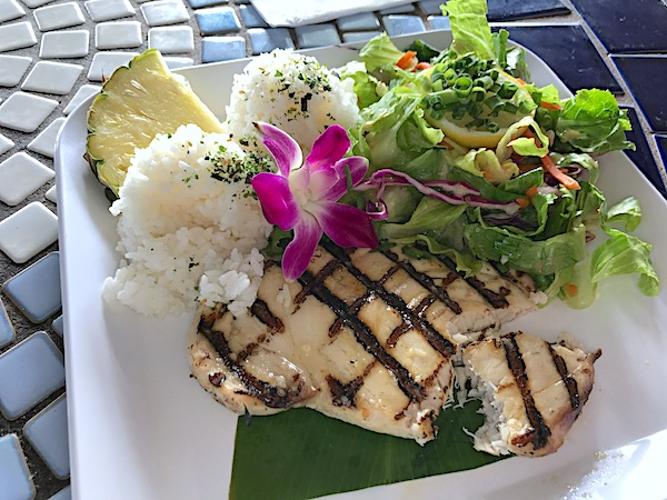 Barefoot Beach Café Waikiki casual Hawaiian plates