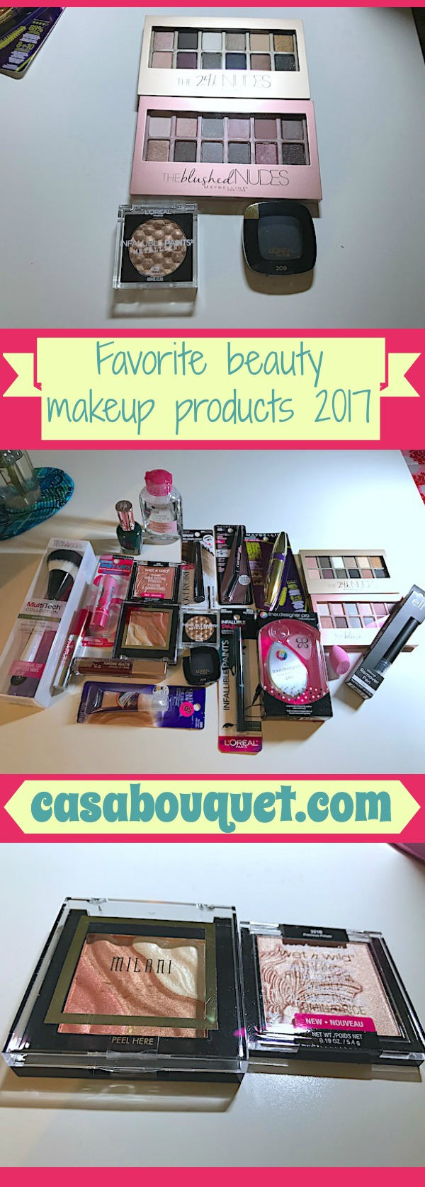 "My latest beauty makeup products roundup includes eyes, lips, face, and more. These are my ""drugstore"" picks."