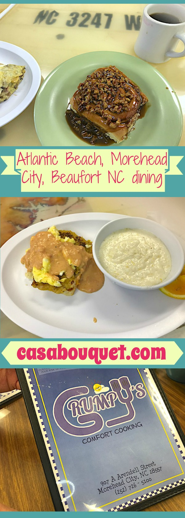 Atlantic Beach, Morehead City, and Beaufort in North Carolina are part of the Crystal Coast. Eating is a great activity there. Join me for breakfast!