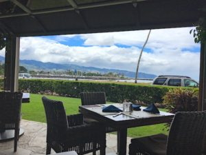 The Haleiwa Beach House is nestled on a spectacular spot in Haleiwa on the North Shore of Oahu, Hawaii. Seafood, meats, and veggies are served with Pacific style and gorgeous views.