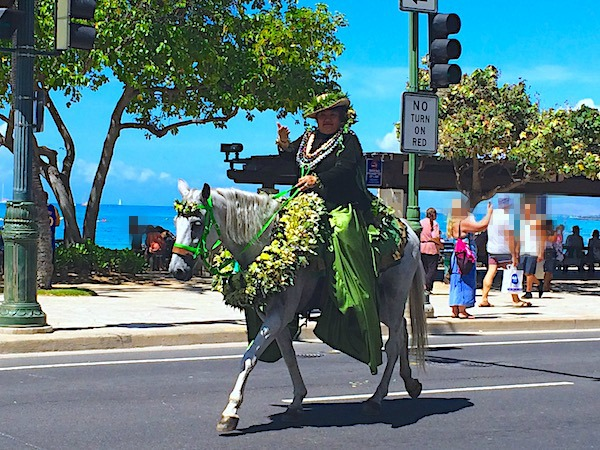 Pa'u riders Aloha Festival floral equestrian parade