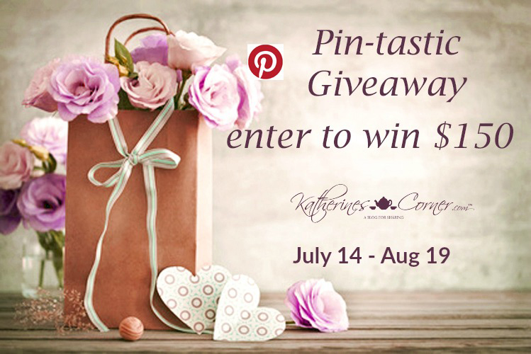I'm joining Katherine's Corner, her giveaway sponsor Simple Nature Decor and some of Katherine's blogger friends to bring you the Pin-tastic Giveaway!