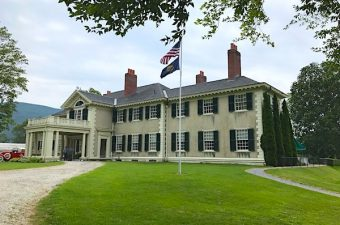 Hildene estate in Manchester Vermont was the home of Robert Lincoln and his family. Enjoy history, architecture, and gardens in Vermont mountains.