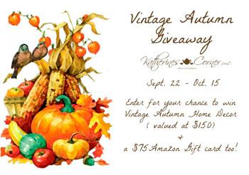 vintage autumn giveaway