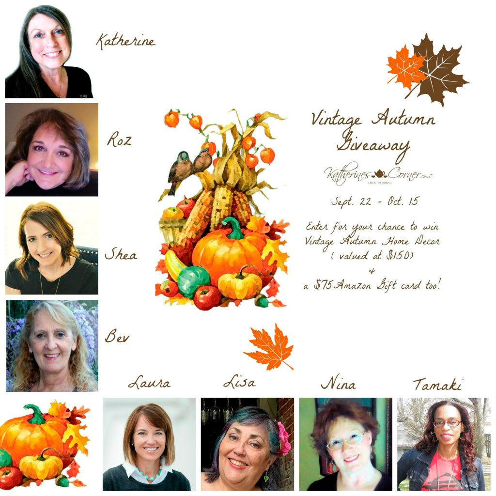 vintage autumn hostesses