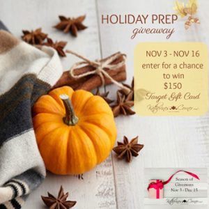 holiday prep giveaway nov 3 to nov 16