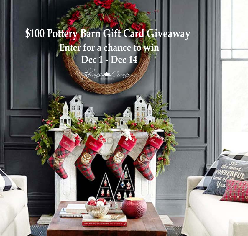 100 dollar pottery barn gift card giveaway