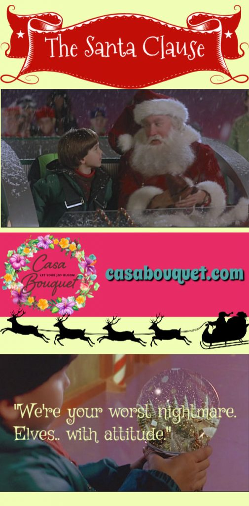 The Santa Clause: A divorced dad and his boy have to save Christmas when Santa falls off their roof. Tim Allen, Eric Lloyd, and David Krumholtz star. Lisa's Home Bijou