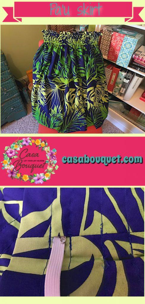 How to make a simple gathered skirt. Use Hawaiian fabric to make a pa'u skirt for hula.