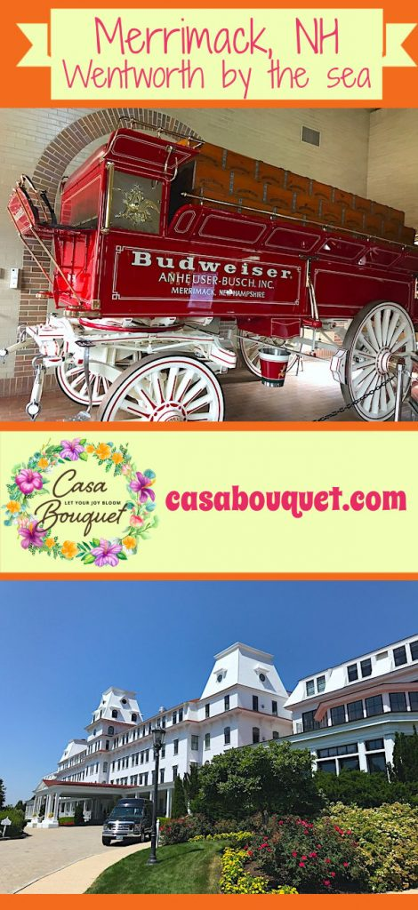 Merrimack NH and Wentworth by the sea New Castle are in easy driving distance of Boston or Concord NH. Budweiser brewery, Clydesdales, seaside grand hotel.