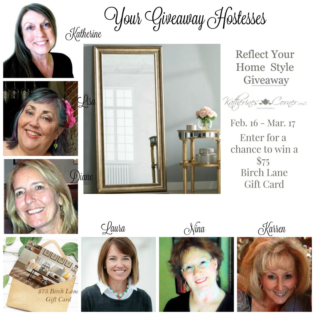 reflect your home style giveaway hostesses