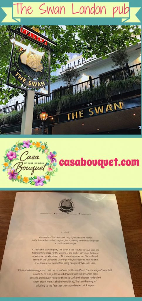 The Swan is a pub on Bayswater Road, London, near the Lancaster Gate of Kensington Gardens. Great history, good pints, and nice food service!
