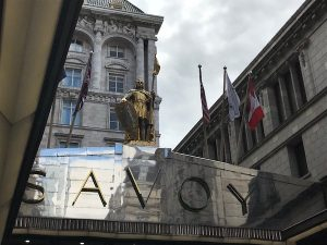 The Savoy Hotel in the Strand was London's first luxury hotel. Afternoon tea is a wonderful experience and the American Bar is World's Best.