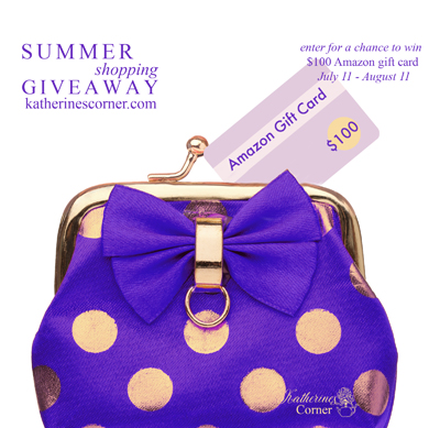 summer shopping giveaway sidebar