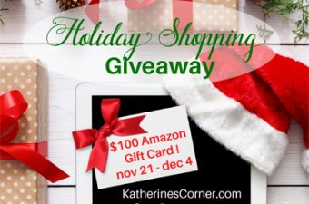 holiday shopping giveaway sidebar