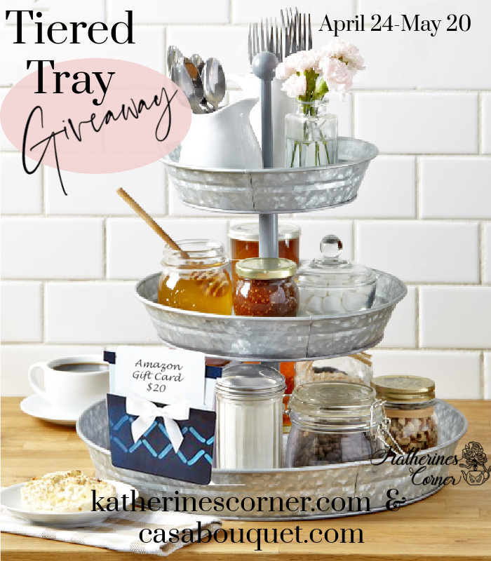 tiered tray giveaway with lisa