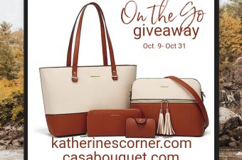 on the go giveaway Oct 9 - Oct 31
